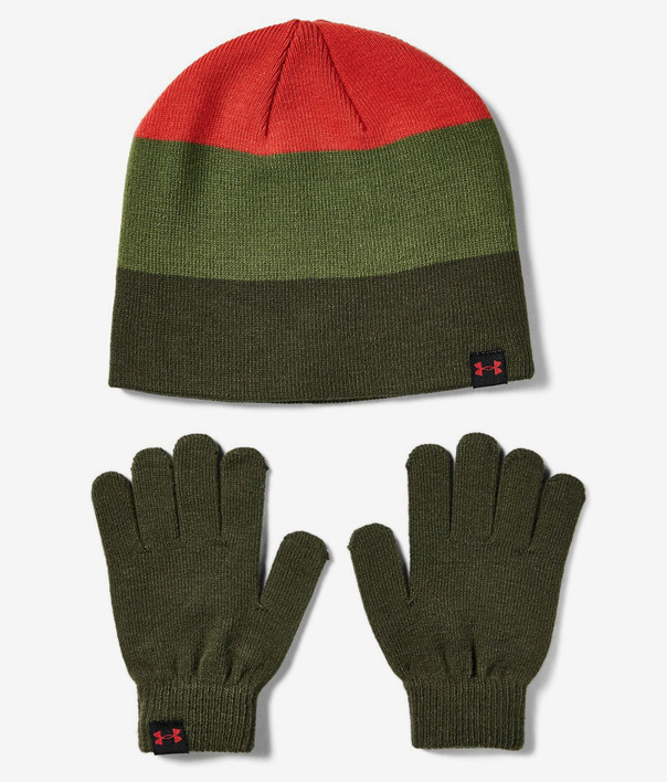 Čapica a rukavice Under Armour Boys Beanie Glove Combo-Grn (1)