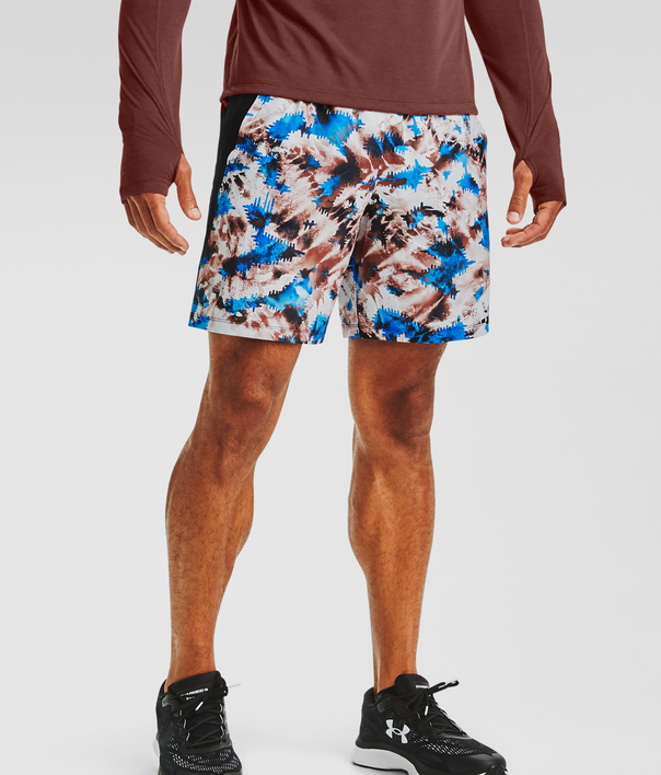 Kraťasy Under Armour UA LAUNCH SW 7'' PRINTED SHORT-RED (1)