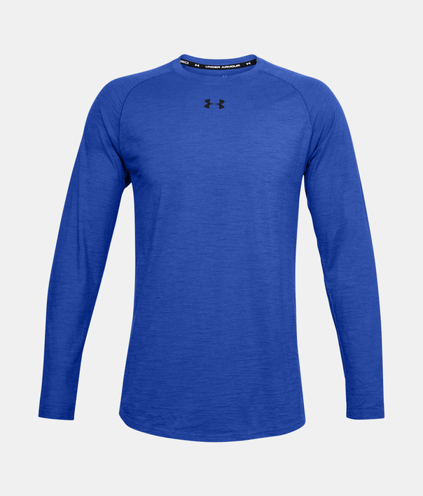 Tričko Under Armour Charged Cotton LS-BLU (3)