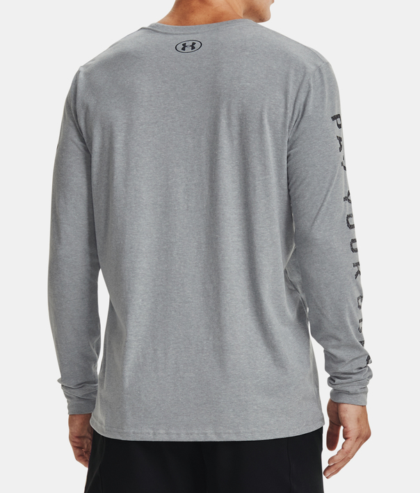 Tričko Under Armour PJT ROCK RENTS DUE LS-GRY (2)