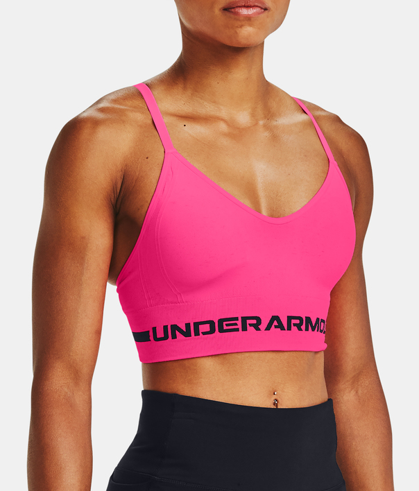 Podprsenka Under Armour UA Seamless Low Long Htr Bra-PNK (1)