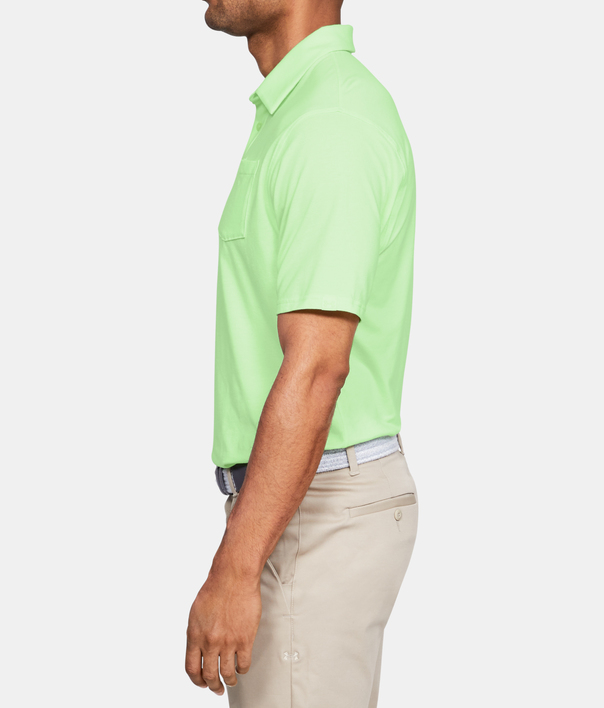 Tričko Under Armour Charged Cotton Scramble Polo-GRN (5)
