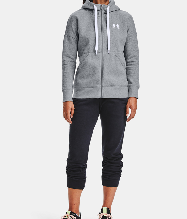 Mikina Under Armour Rival Fleece FZ Hoodie-GRY (4)