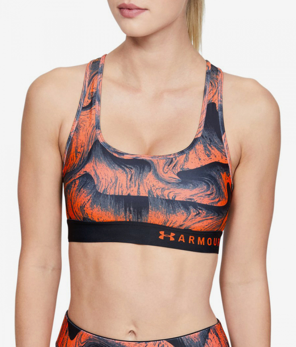 Kompresná podprsenka Under Armour Mid Crossback Printed Bra (1)