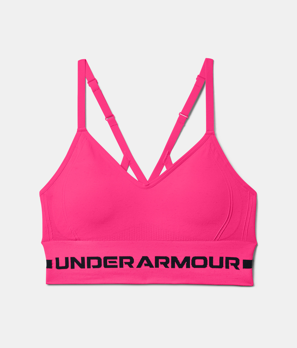 Podprsenka Under Armour UA Seamless Low Long Htr Bra-PNK (3)