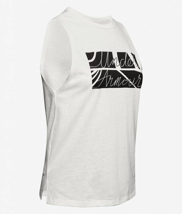 Tielko Under Armour GRAPHIC BOX SCRIPT MUSCLE TANK-WHT (3)