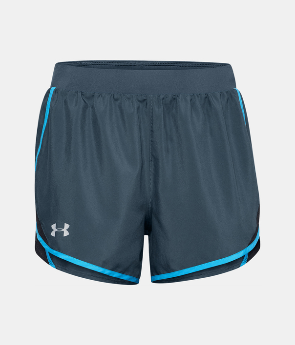 Kraťasy Under Armour W  Fly By 2.0 Short-BLU (3)