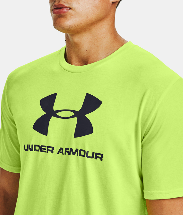 Tričko Under Armour SPORTSTYLE LOGO SS-GRN (5)