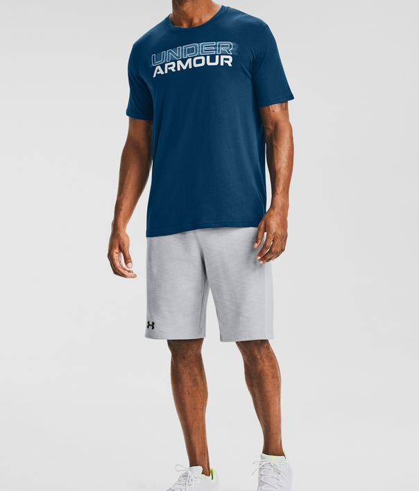 Tričko Under Armour UA BLURRY LOGO WORDMARK SS-BLU (3)