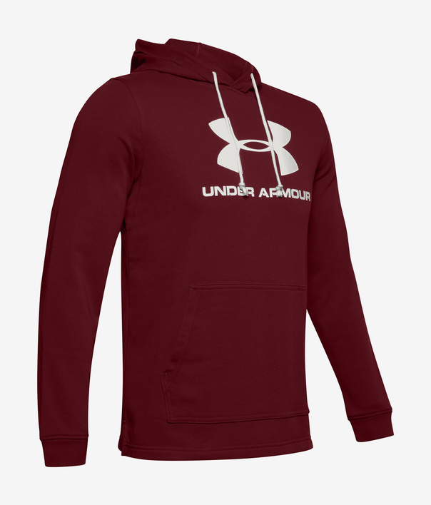 Mikina Under Armour SPORTSTYLE TERRY LOGO HOODIE-RED (4)