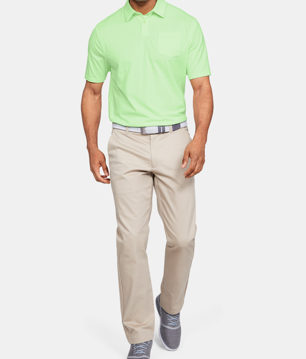 Tričko Under Armour Charged Cotton Scramble Polo-GRN (6)