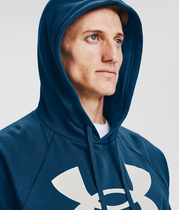 Mikina Under Armour UA Rival Fleece Big Logo HD-BLU (4)