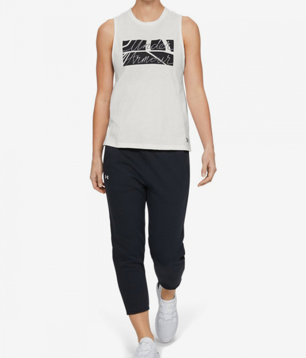 Tielko Under Armour GRAPHIC BOX SCRIPT MUSCLE TANK-WHT (5)