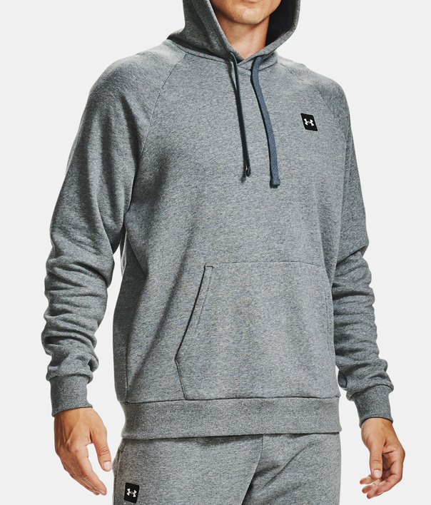 Mikina Under Armour UA Rival Fleece Hoodie-GRY (1)