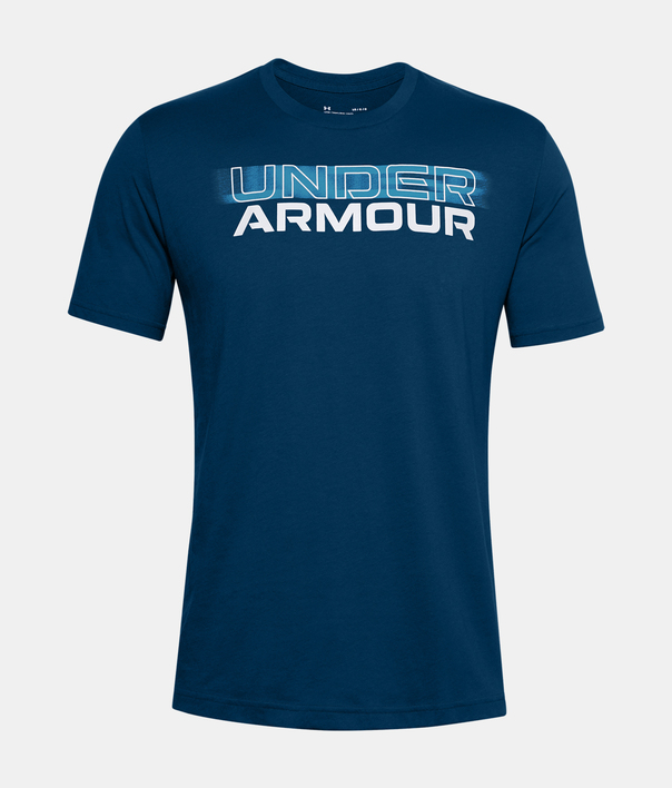Tričko Under Armour UA BLURRY LOGO WORDMARK SS-BLU (1)