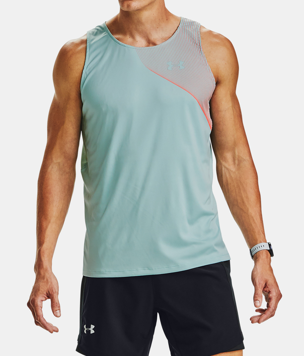Tielko Under Armour M  Qlifier ISO-CHILL Singlet-BLU (1)